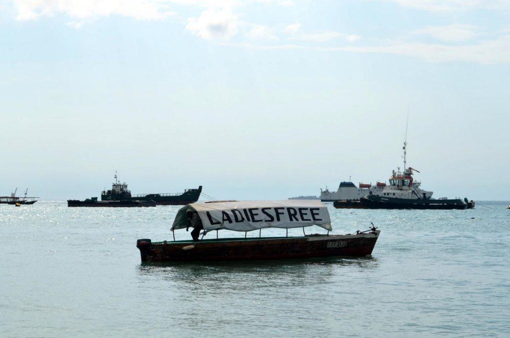 Ladies free boat