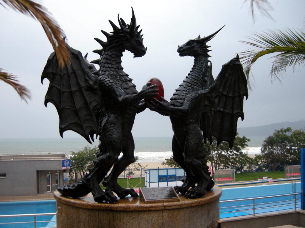 Rzeźba Smoki in love Warna Bułgaria
