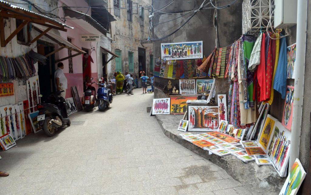 Ulica w stolicy Stone Town