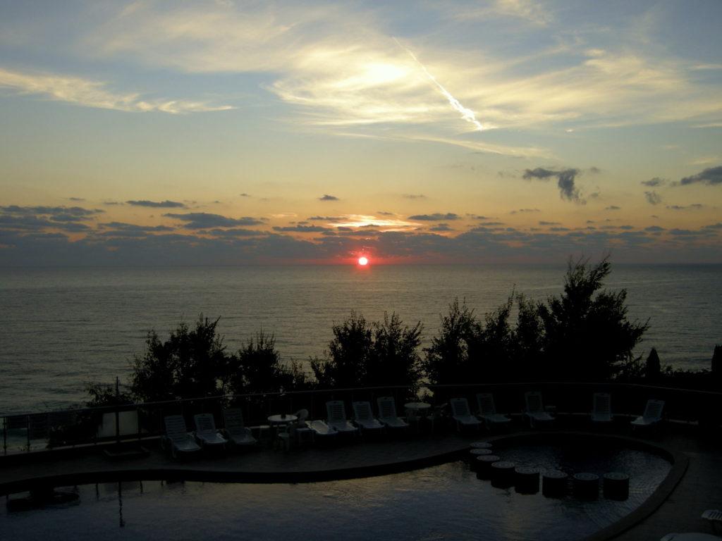 Wschód słońca w Bjałej Bułgaria