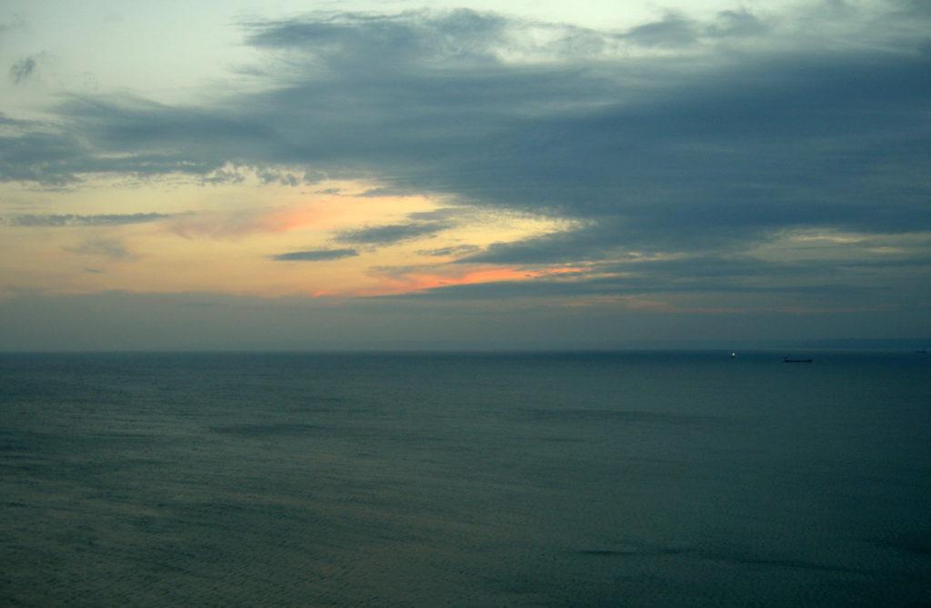 Po zachodzie słońca Przylądek Kaliakra Bułgaria
