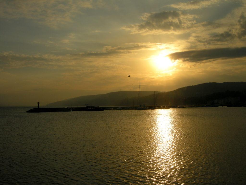 Zachód słońca w Bałczik