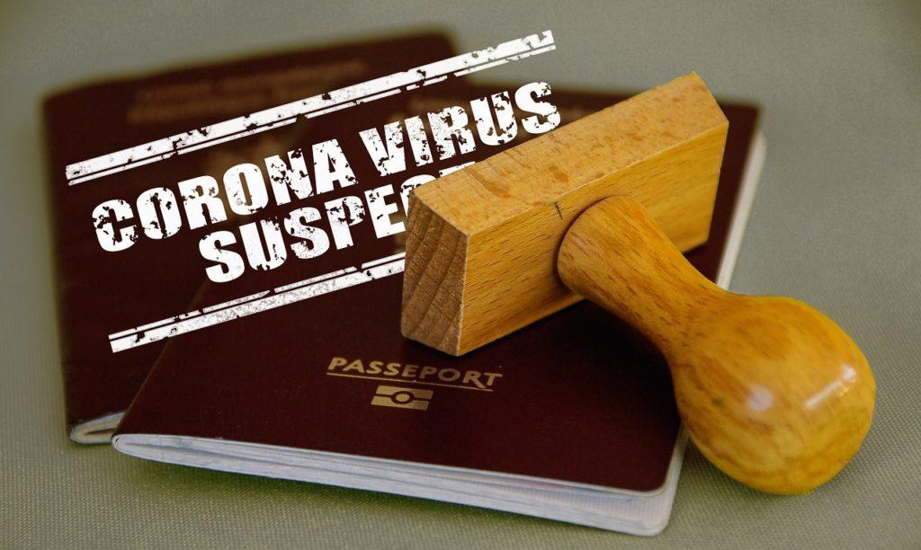 Paszport z pieczątką koronawirus