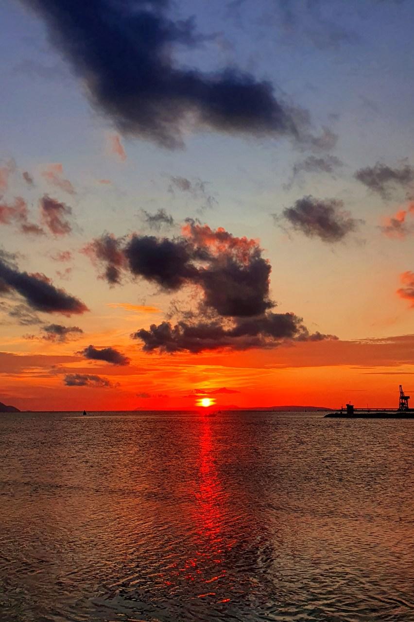 Delta Neretwy zachód słońca