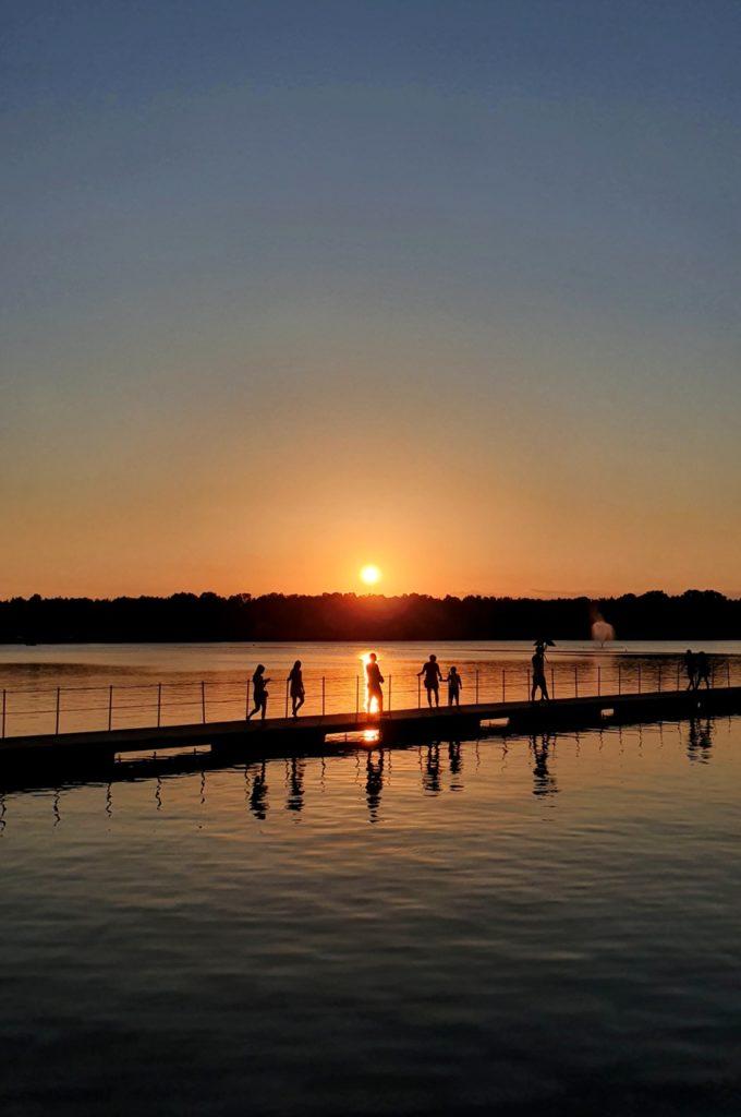 Paprocany zachód słońca